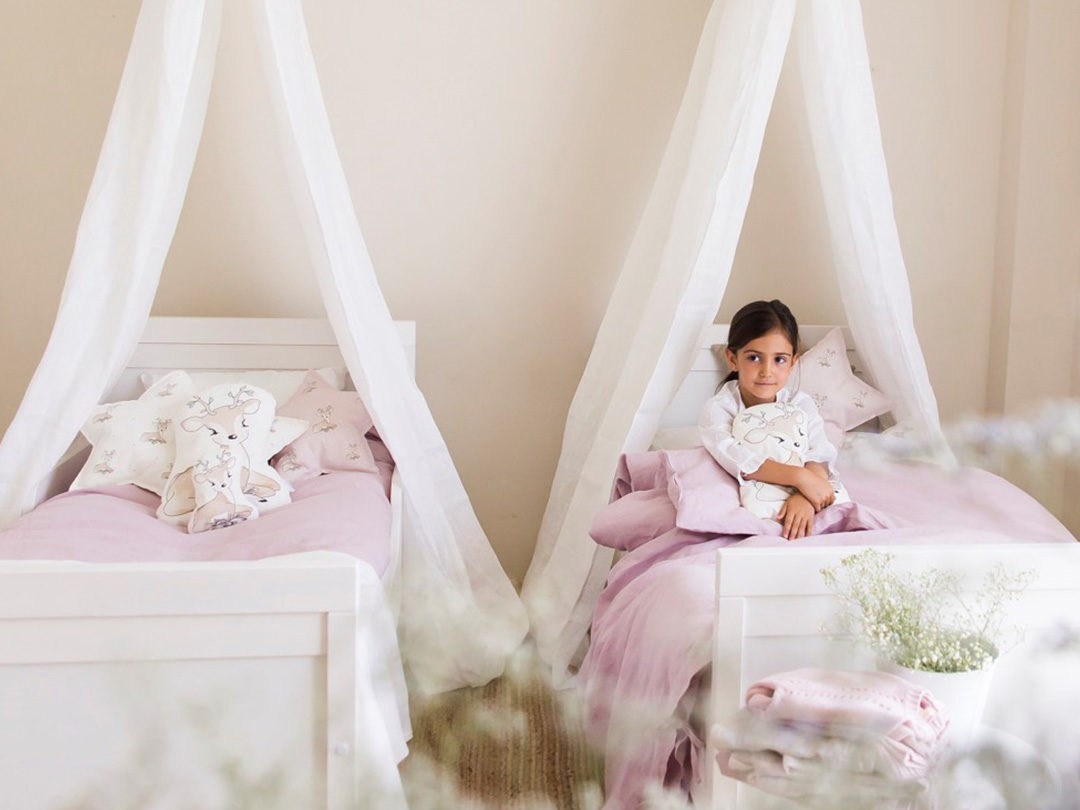 funda nordica rosa cama 90