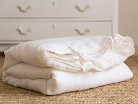Funda de lino lavado a la piedra en blanco provenza perfecto para la cama de tu hijo/a, hazte con tu funda única o regala un detalle a una mamá.