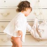 Mochila rosa nude preciosa para tu bebe para llevar a la guardería, para guardar ropita, para la merienda. Un regalo fantástico para mamás más detallistas.